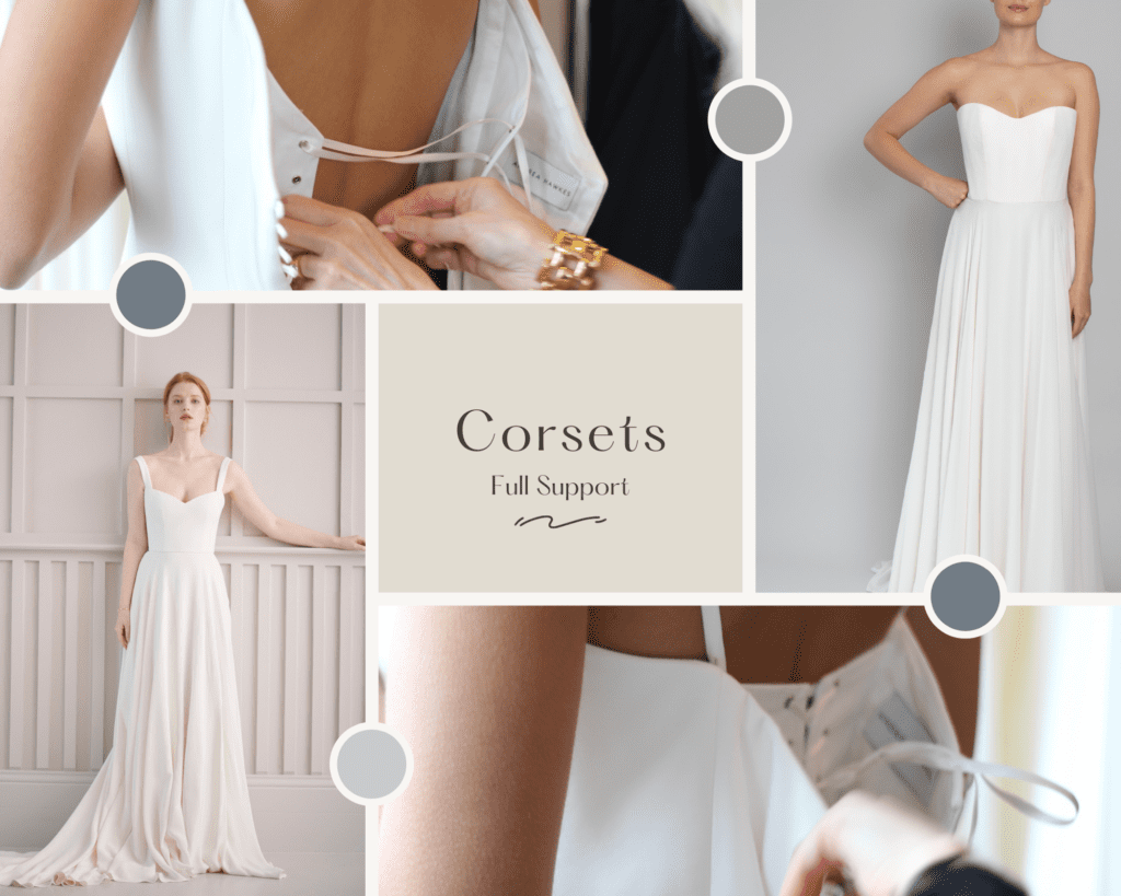 corset structured wedding dresses