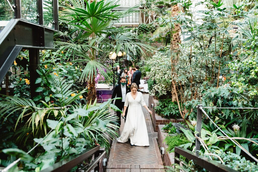 modern wedding dress with sleeves