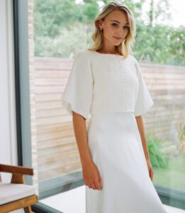 bridal top with sleeves