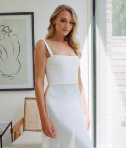 square neck wedding dress