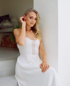 strappy wedding dress