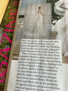 sustainable wedding dress