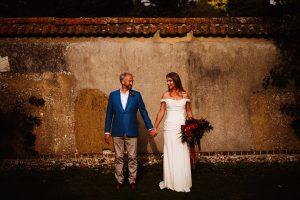 off shoulder wedding dress